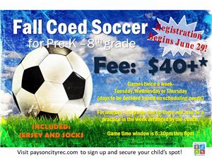 Youth Fall Soccer Registration is NOW OPEN!